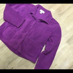 Real comfort large thick fleece shirt jacket